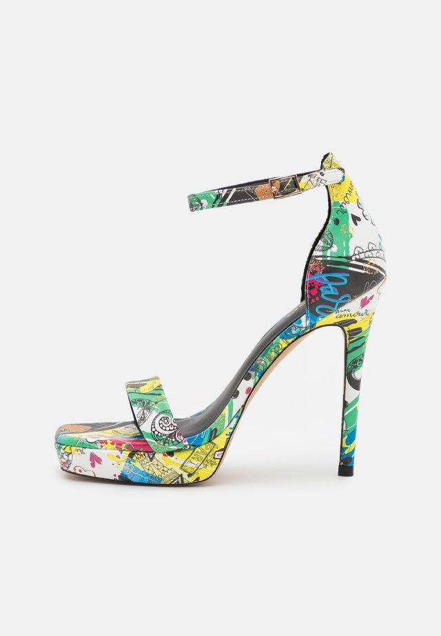 SCARLETT - Sandalias con plataforma - multicolor