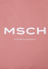 Moss Copenhagen - ORGANIC LOGO SHOPPER - Velká kabelka - ash rose/white - 4