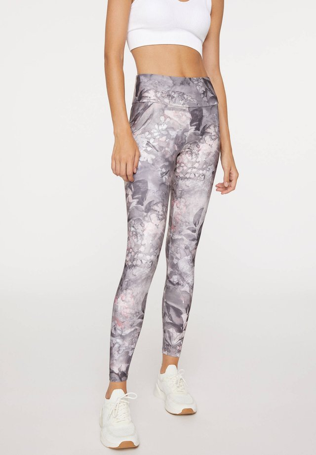 FLORAL - Leggings - grey