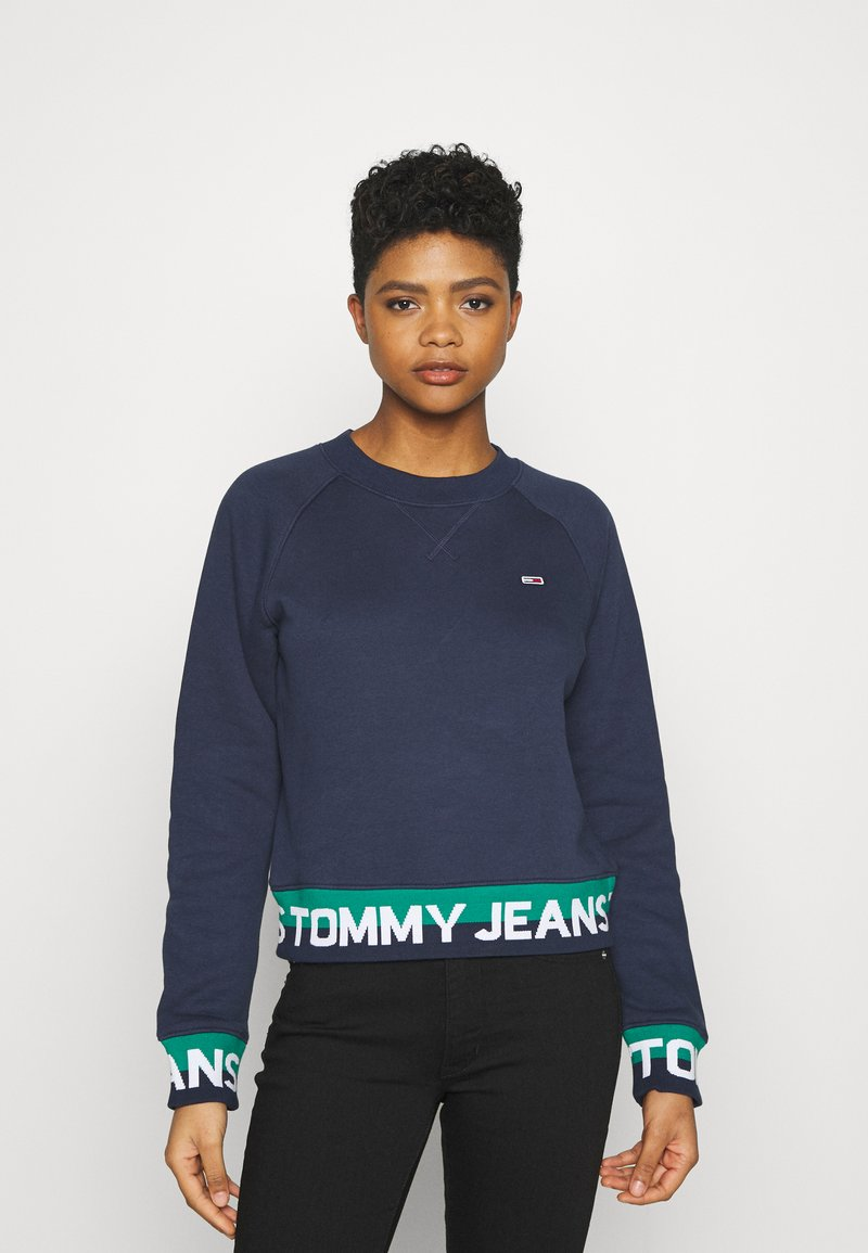 Tommy Jeans - BRANDED HEM - Sweatshirt - twilight navy