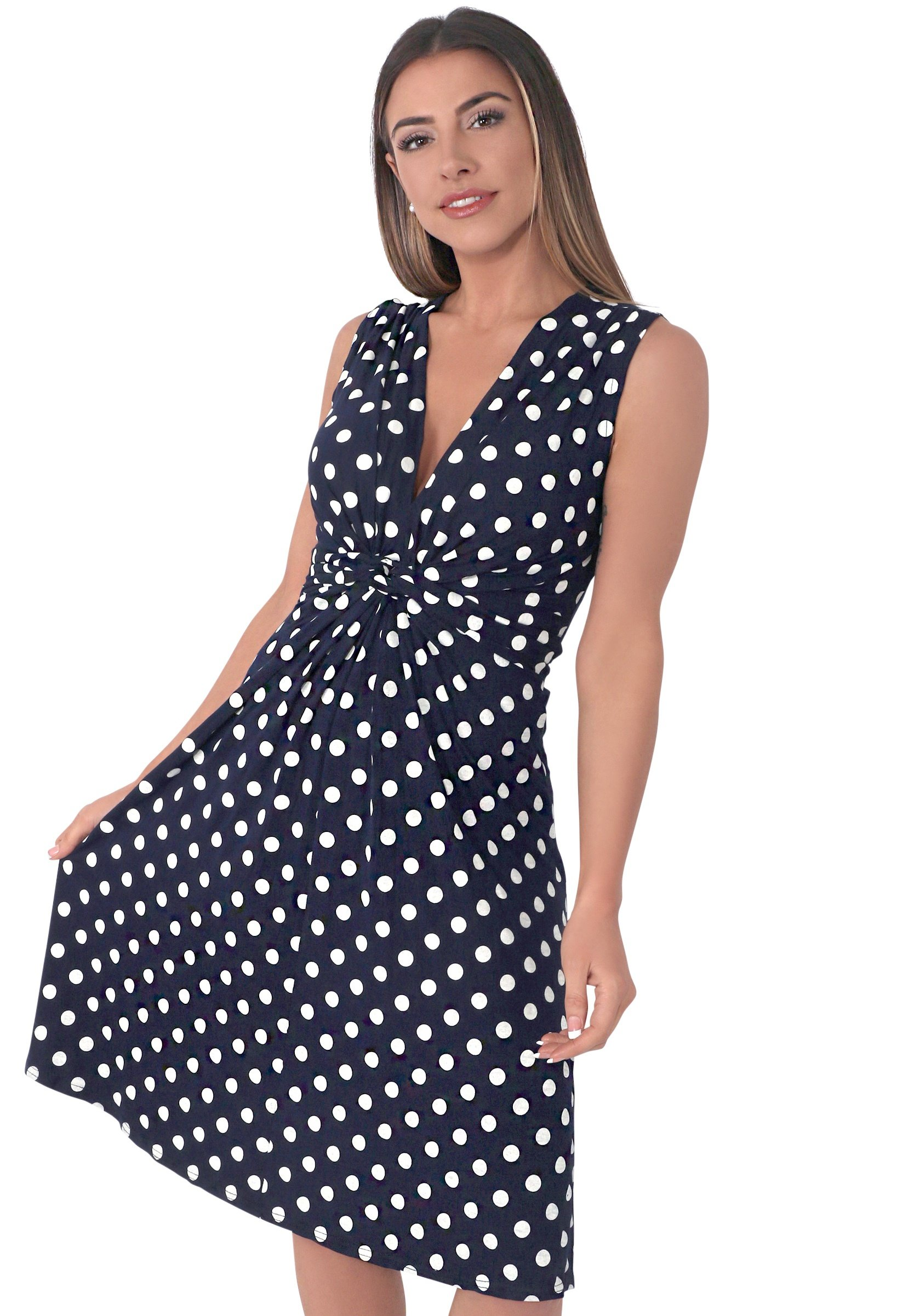 Women KNOT FRONT POLKA DOT - Day dress