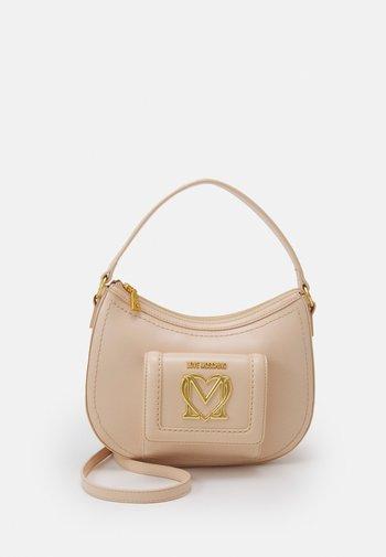 SCARFED HOBO - Handbag - naturale/nude