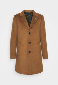 SINGLE BLEND OVERCOAT - Classic coat - tabacco