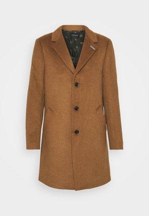 SINGLE BLEND OVERCOAT - Klasický kabát - tabacco