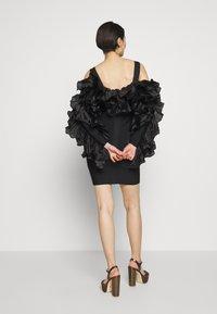 Hervé Léger - RUFFLE SLEEVE MINI - Vestito elegante - black - 2
