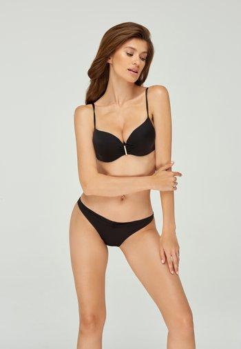 SOLID BIKINI BOTTOM - Bikini bottoms - black denim