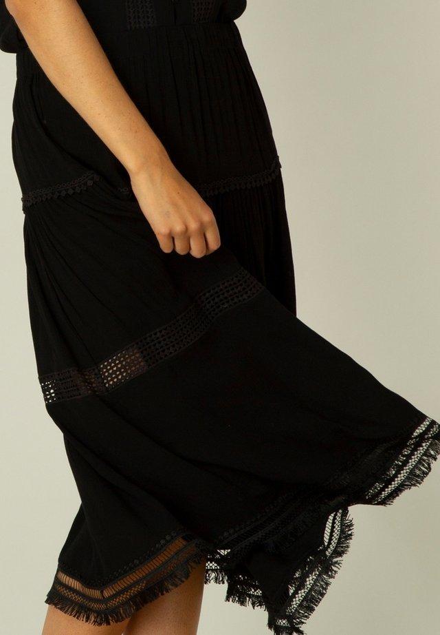 ILONA - A-lijn rok - black