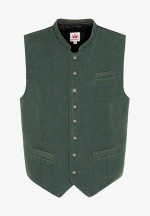 Waistcoat - d.grün/schwarz