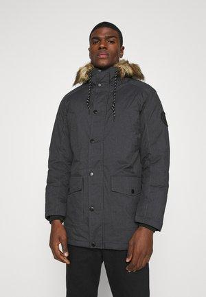 Winter coat - dark grey melange