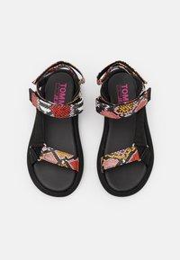 Tommy Jeans - PRINT SPORTY - Sandals - black - 5