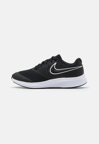 STAR RUNNER 2 UNISEX - Neutral running shoes - black/white/volt