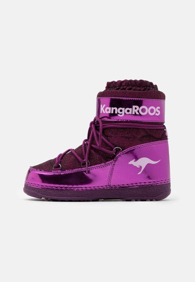 K-MOON - Winter boots - dark berry/frost pink