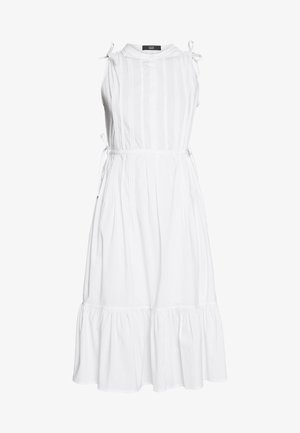 EXCLUSIVE SLEEVELESS BLOUSE DRESS - Day dress - white