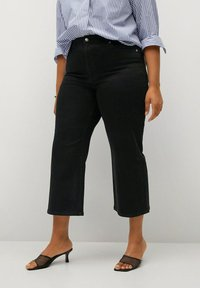 Violeta by Mango - Relaxed fit jeans - black denim - 0