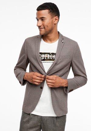SLIM:  MET MOTIEF - Blazer jacket - brown glencheck