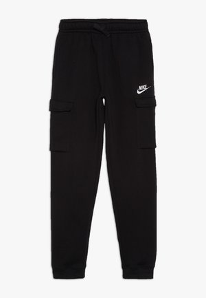 CLUB CARGO PANT - Verryttelyhousut - black/white