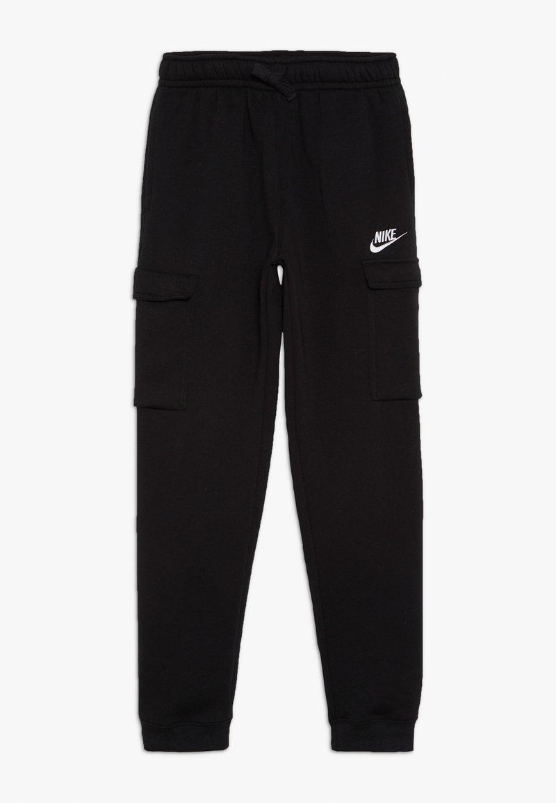 Nike Sportswear - CLUB CARGO  - Träningsbyxor - black/white