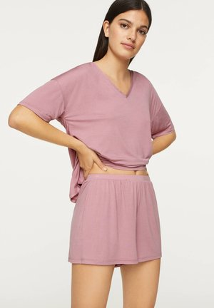 PINK SOFT-TOUCH T-SHIRT - Pyjama top - mauve
