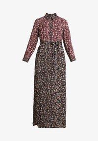 DRESS - Maxi šaty - black burgundy