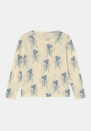 WINTERFLOWERS TEE UNISEX - Long sleeved top - blue denim/white