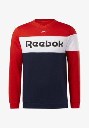 TRAINING ESSENTIALS FLEECE CREW SWEATSHIRT - Sweater - red