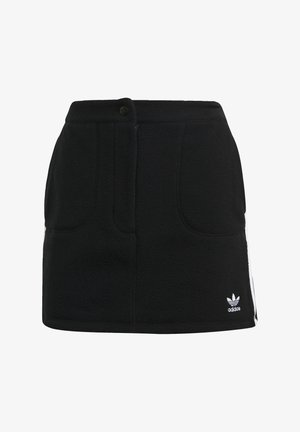 FLEECE  - Mini skirt - black