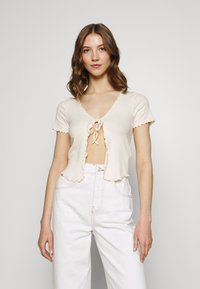 BDG Urban Outfitters - TIE FRONT - Cardigan - ecru - 0