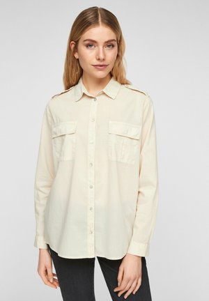 Button-down blouse - light sand