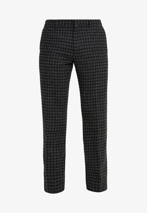 SUTTON GINGHAM - Trousers - black/charcoal