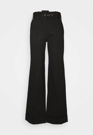 BELTED TROUSER - Pantalon classique - black