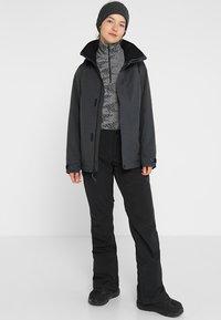Burton - JET SET - Kurtka snowboardowa - true black heather - 1