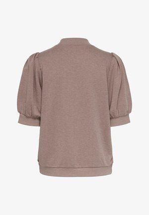 T-shirt z nadrukiem - burlwood