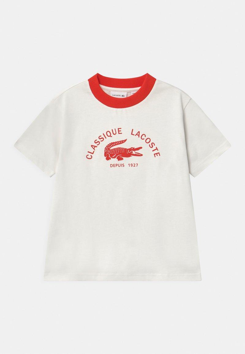 Lacoste - Print T-shirt - flour/redcurrant bush