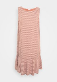 VOLANT DRESS - Day dress - metallic red