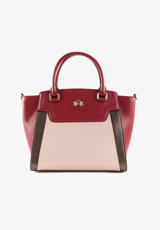 Handbag - biking red / grey / brown
