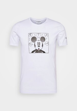 NEW COLLECTION WITH MICKEY MOUSE - Printtipaita - bianco ottico