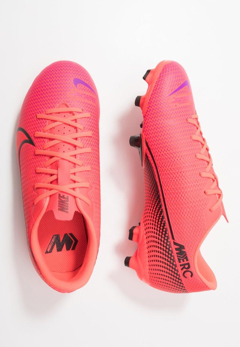 Nike Performance - MERCURIAL JR VAPOR 13 ACADEMY FG/MG UNISEX - Moulded stud football boots - laser crimson/black