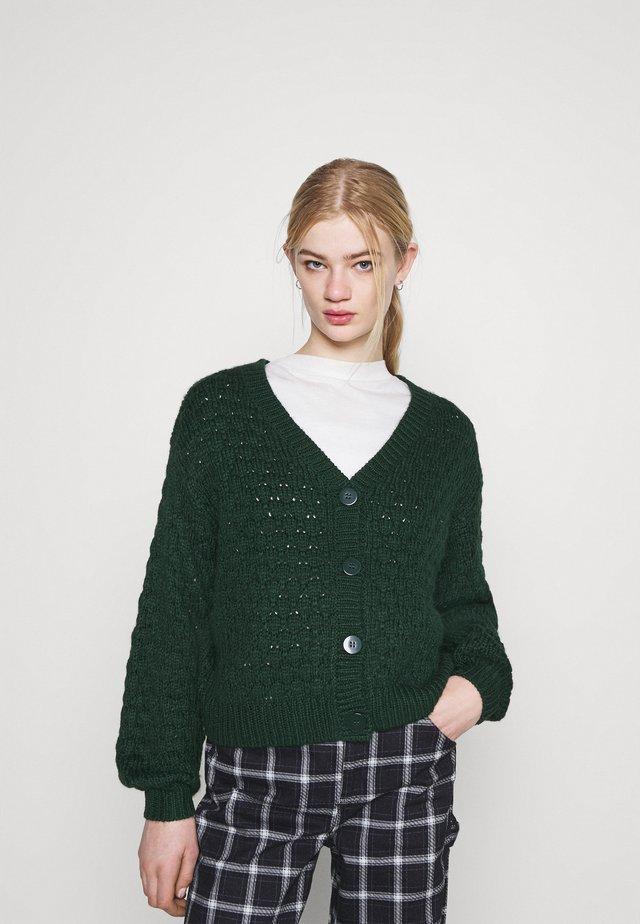 NINNI CARDIGAN - Cardigan - green dark