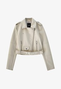 PULL&BEAR - Giacca in similpelle - beige - 5