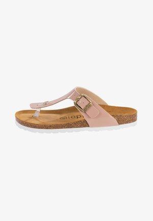 T-bar sandals - rosa lack