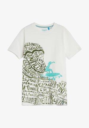 Camiseta estampada - powder white