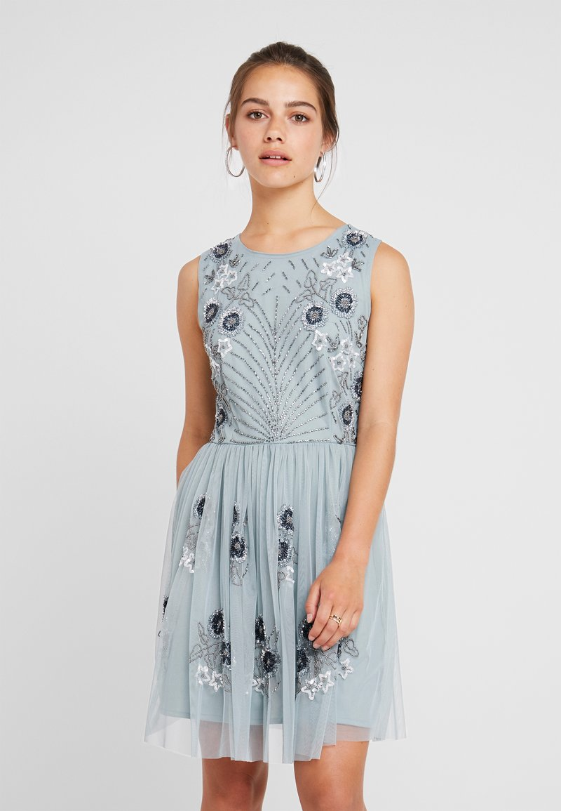 Lace & Beads Petite - NARA SKATER - Koktejlové šaty/ šaty na párty - teal