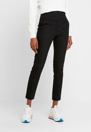 GEORGIA HIGH WAIST FULL LENGTH PANT - Kangashousut - black