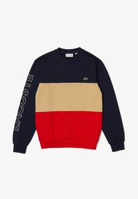 bleu marine/beige/rouge