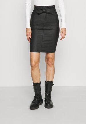ONLHUSH NYA COATED SKIRT - Pencil skirt - black