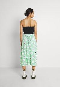 Monki - SIGRID BUTTON SKIRT - A-line skirt - green light - 2