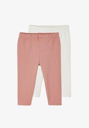 2 PACK - Leggings - Trousers - pack dunkelrosa