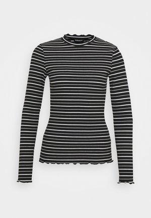 Long sleeved top - black/white
