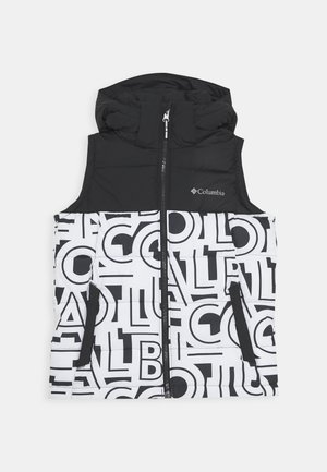 PIKE LAKE HOODED VEST - Smanicato - black/white