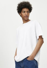 PULL&BEAR - 2 PACK - T-shirt basic - white, black - 4
